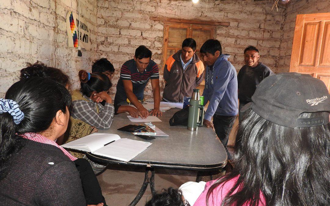"""Comunità di Pacha Inti si riunisce per coordinare i lavori della nuova rete idrica """"Mama Cocha""""."""