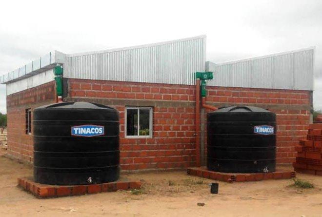 Terminata la struttura di raccolta di acqua piovana per la comunità El Pelicano.